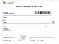 Certificato di Attribuzione Codice Fiscale